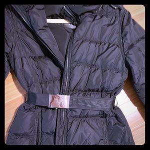Prada nylon black puffer 3/4 length jacket